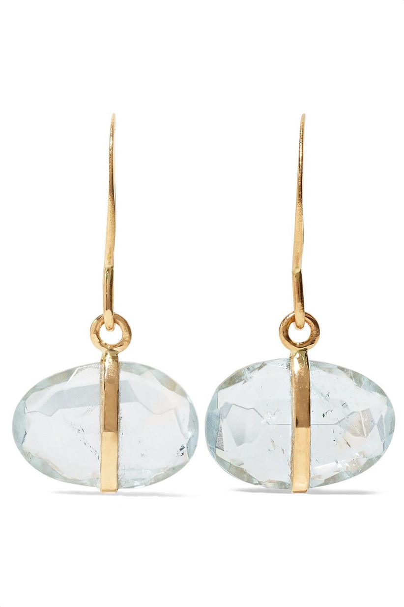 wedding anniversary stones - aquamarine earrings