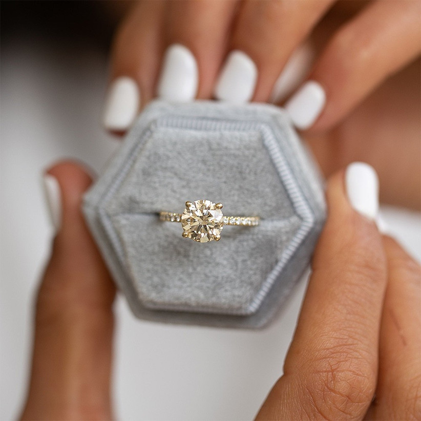 13 Unique Yellow Diamond Engagement Rings Hitched Co Uk