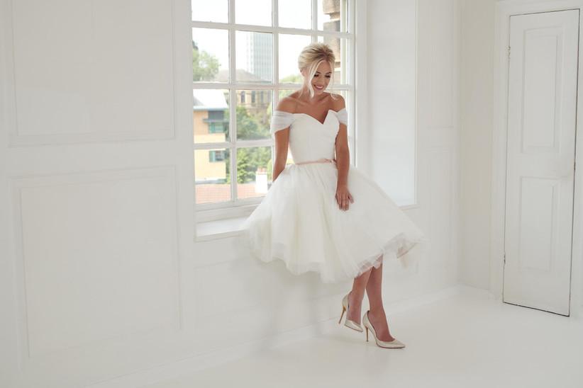 Best Short Wedding Dresses House of Mooshki Bardot