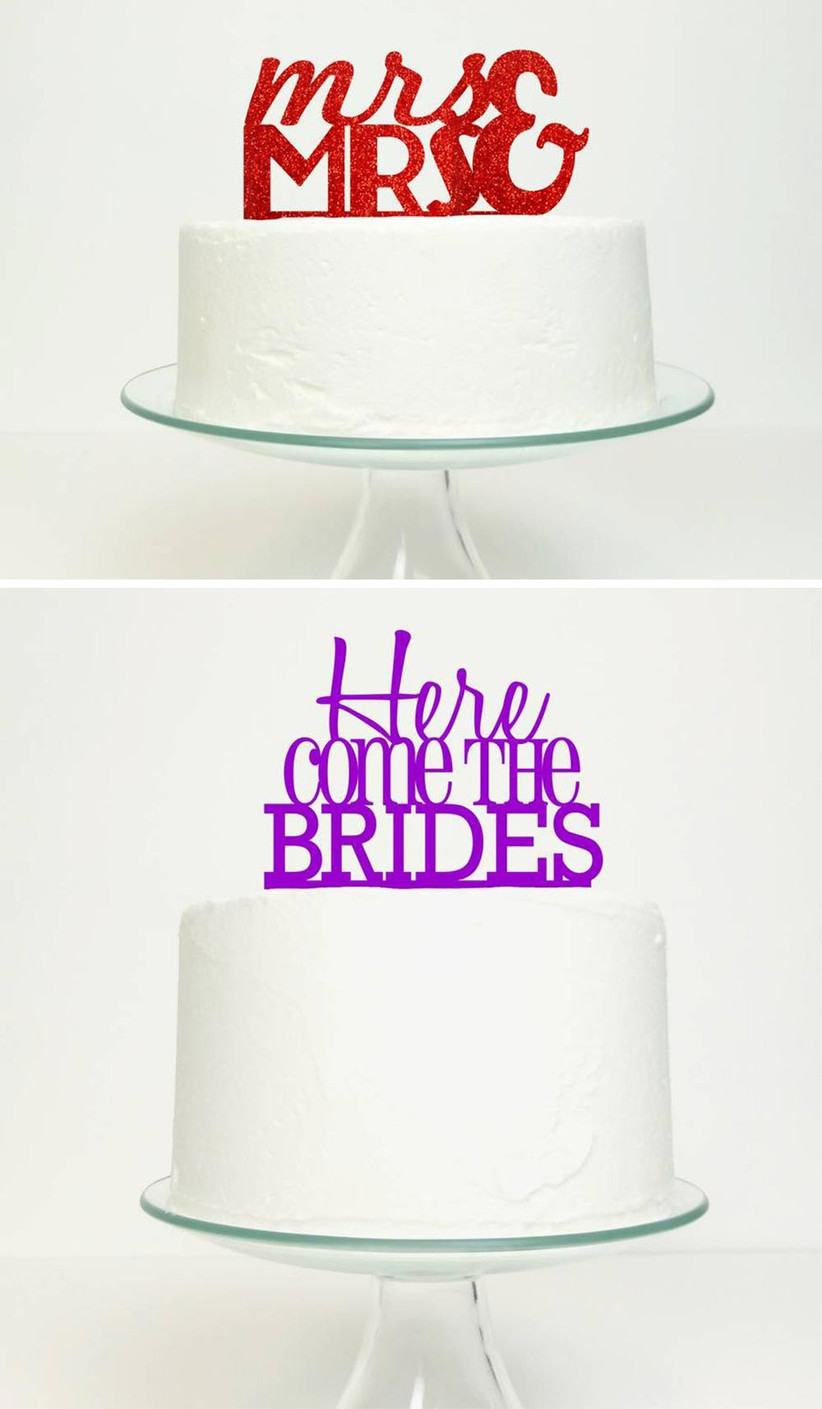 glittery-word-wedding-cake-toppers