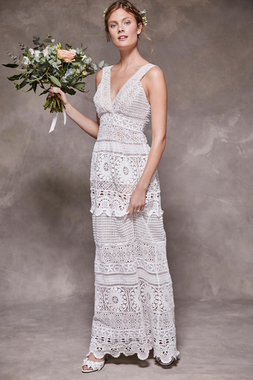 Next lace crochet wedding dress