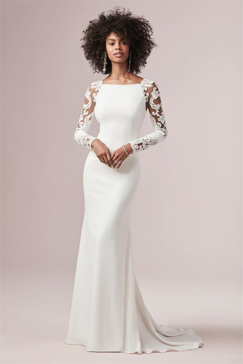 41 Best Winter Wedding Dresses 2021 Hitched Co Uk,Long Sleeve Wedding Dresses Without Lace