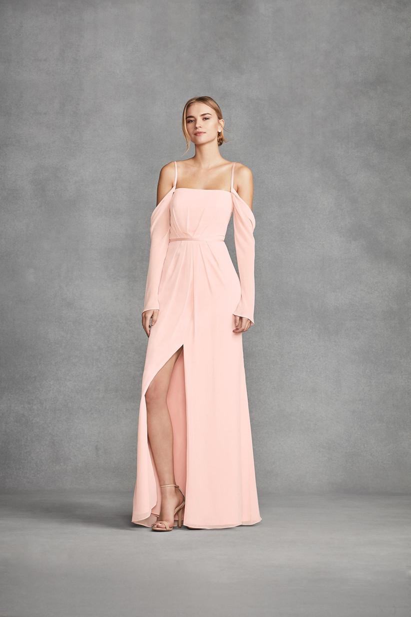 White by Vera Wang VW360382 - pastel bridesmaid dresses