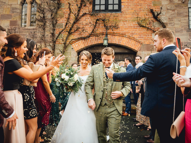 A Magical Winter Wedding at Brinsop Court + a Suzanne Neville Dress