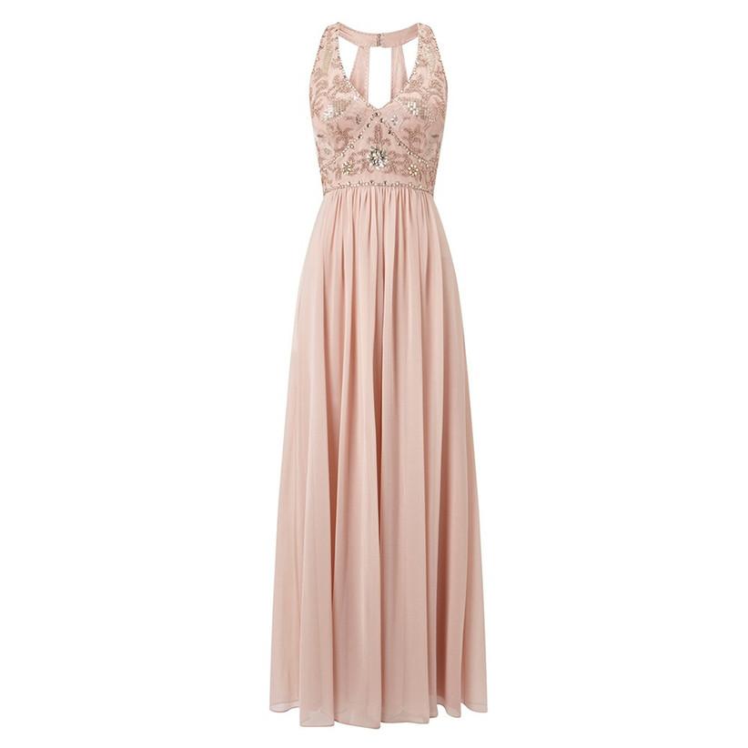pink-rose-gold-bridesmaid-dress