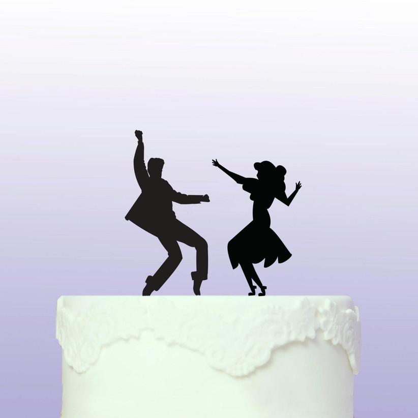 Dancing wedding cake topper