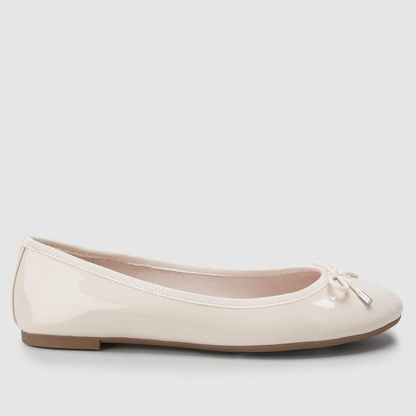 Flat pump bridesmaid shoe