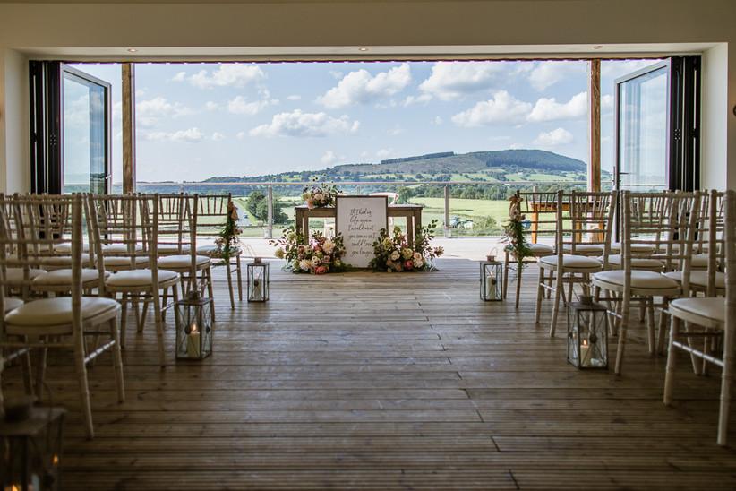 Wedding ceremony at Lancashire venue Bashall Barn