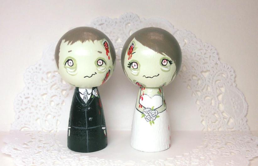 zombie-wedding-cake-topper