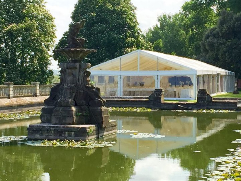 Marquee at Northamptonshire wedding venue Stoke Park Pavilions
