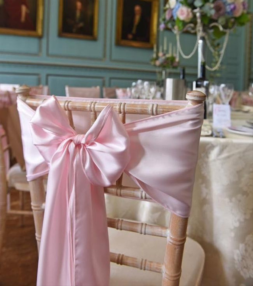 pink-satin-bow-chair-sash
