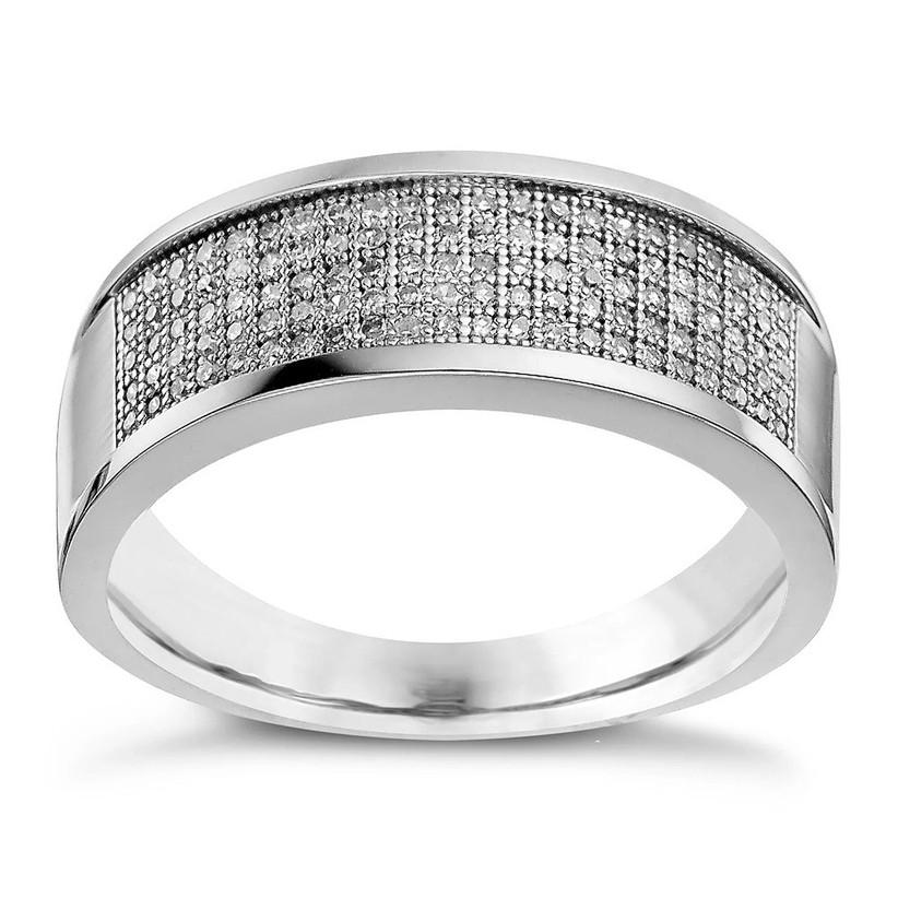 Pave diamond mens ring