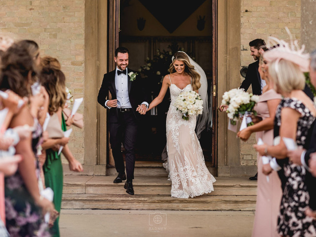 A Glamorous White Wedding at Stubton Hall with an Orangery Reception + Calla Blanche Gown