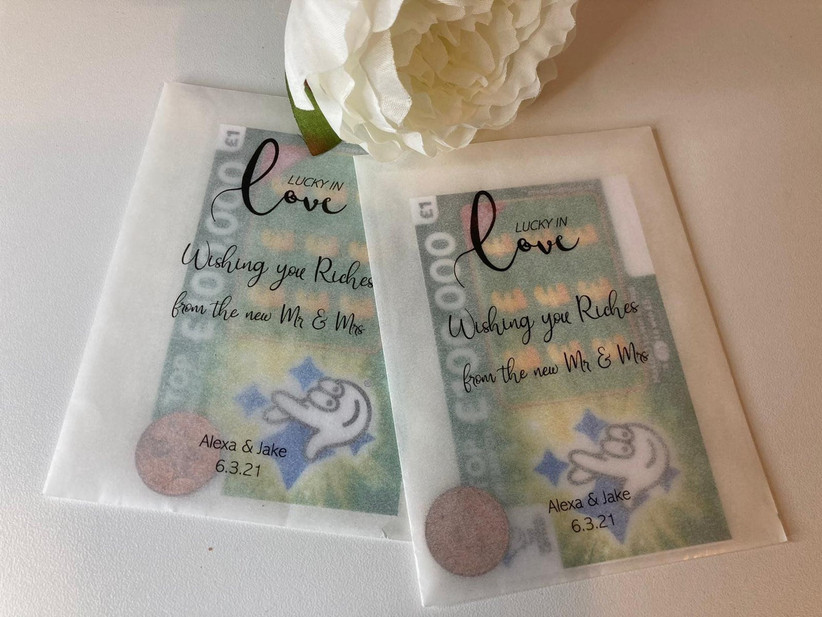 Personalised scratch card envelopes