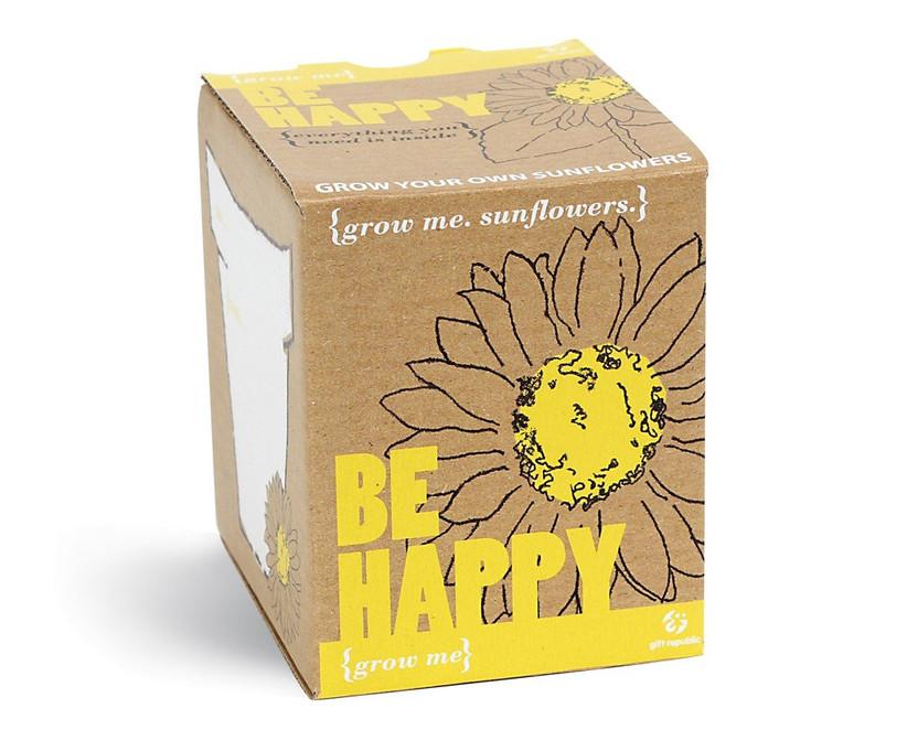 Grow Me Be Happy Sunflowers Kit