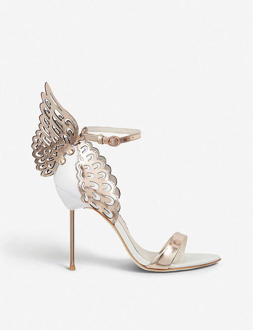 Bronze winged bridal heel