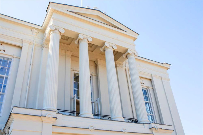 Exterior of St Albans museum & gallery, a wedding venue in Hertfordshire