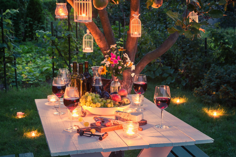 wine and cheese engagement party