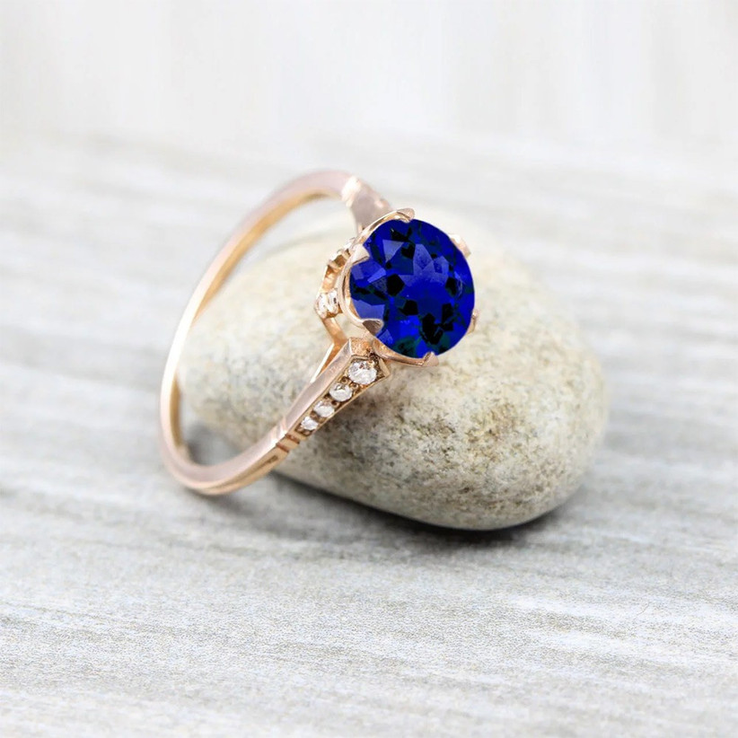 rose-gold-and-sapphire-engagement-ring