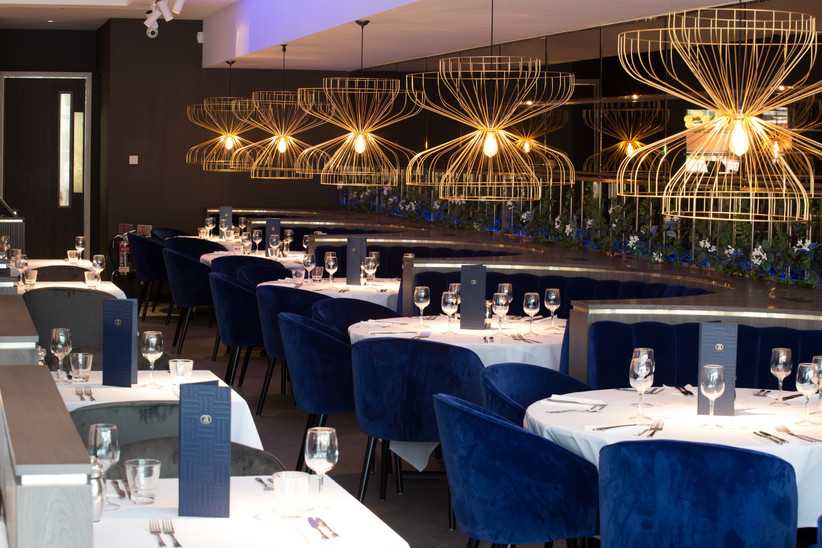 Lancashire wedding venue Alberts Standish restaurant interior