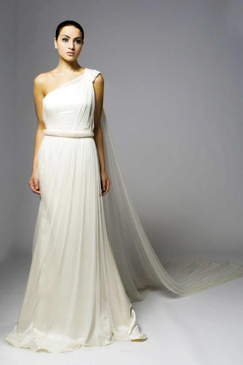 chiffon-one-shoulder-wedding-dress