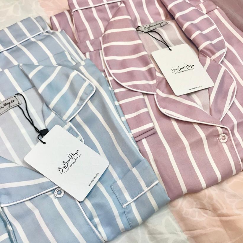 Striped couples pyjamas