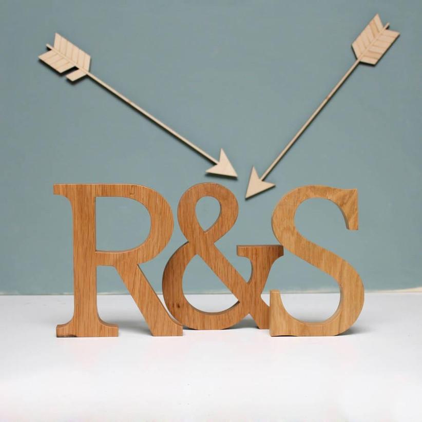 wooden-initials
