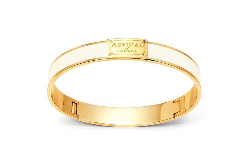 Gold and ivory elephant bracelet