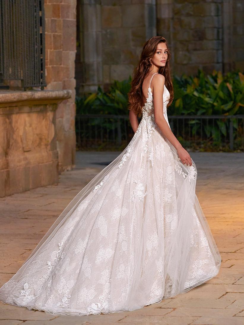 Etoile Chloe lace wedding dress from the back