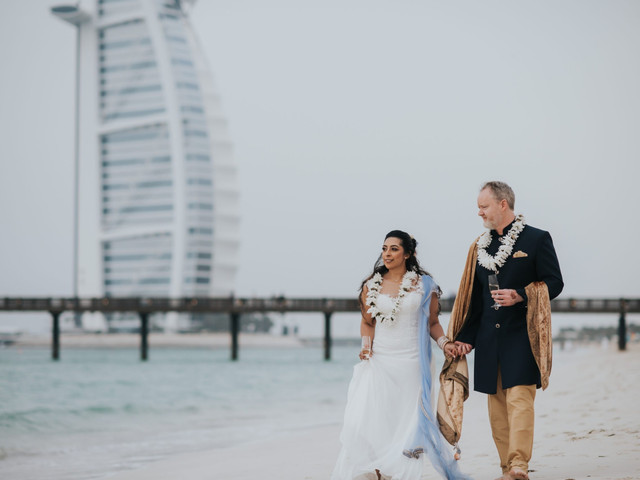 A Dubai Destination Wedding with a Hindu Ceremony + Liverpudlian Special Touches