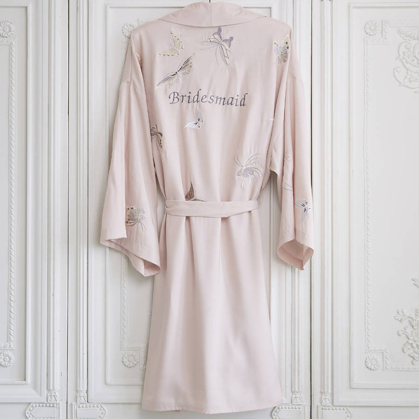 NOTHS Personalised Bridesmaid Butterfly Short Dressing Gown