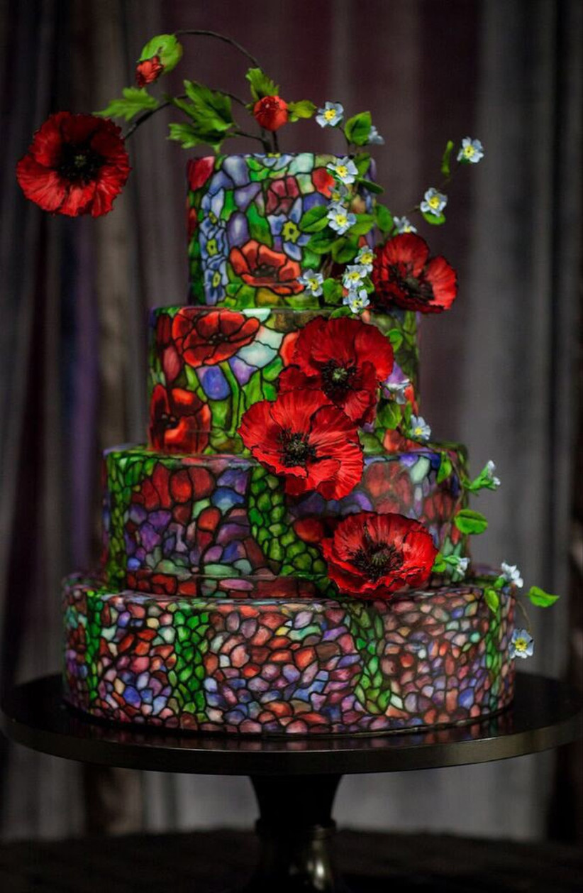 beauty-and-the-beast-stained-glass-window-cake