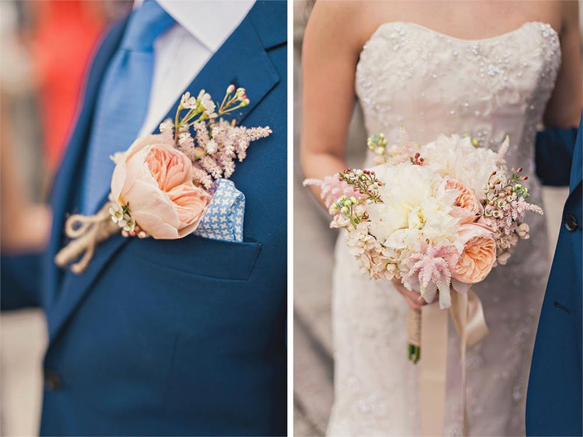 astilbe-buttonhole-and-bouquet