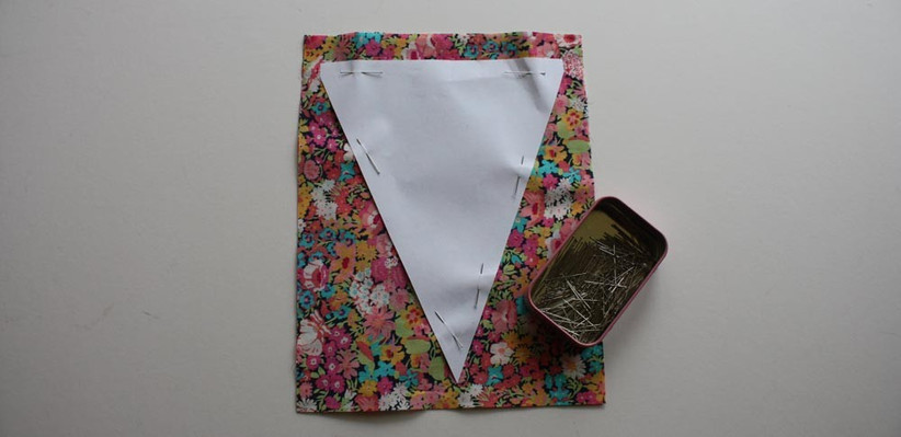 template-pinned-to-the-wedding-bunting-fabric
