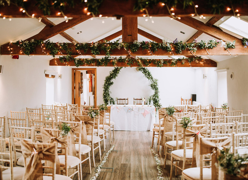 The Fawsley Suite at Northamptonshire wedding venue The Granary at Fawsley