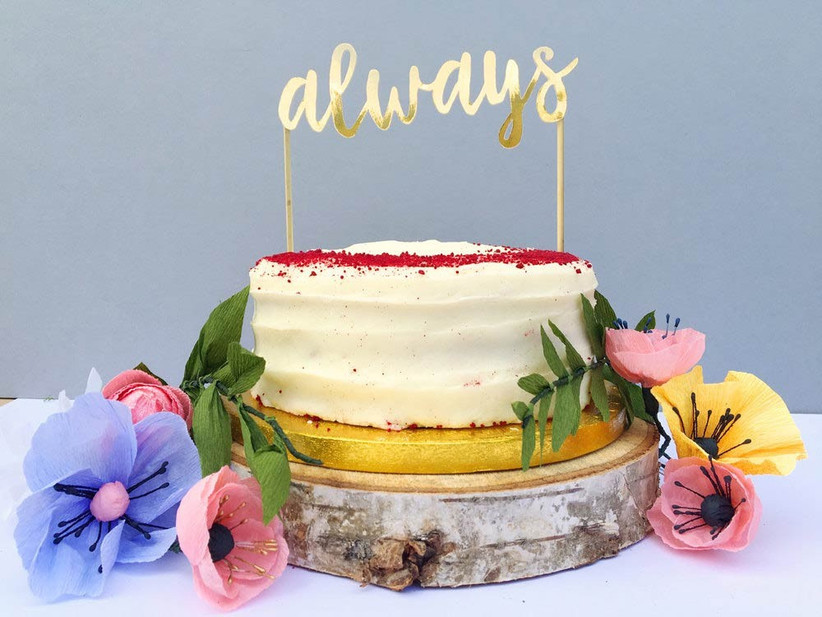 always-cake-topper