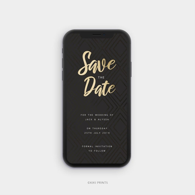 Save the date phone case