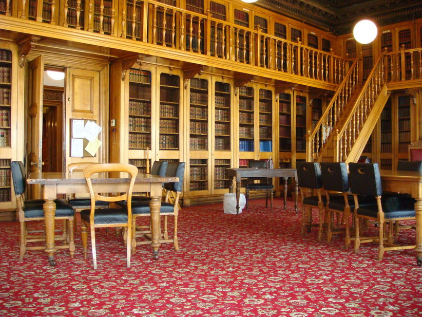 The library at the Society of Advocates in Aberdeen
