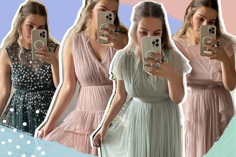 Mood board of different bridesmaid dresses