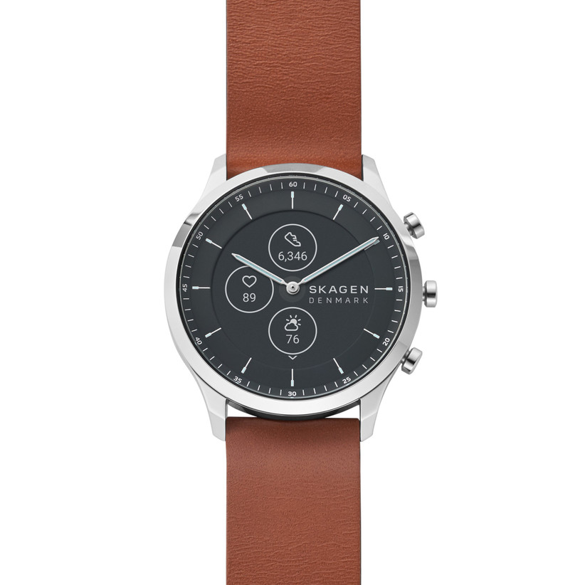 Brown leather engagement watch