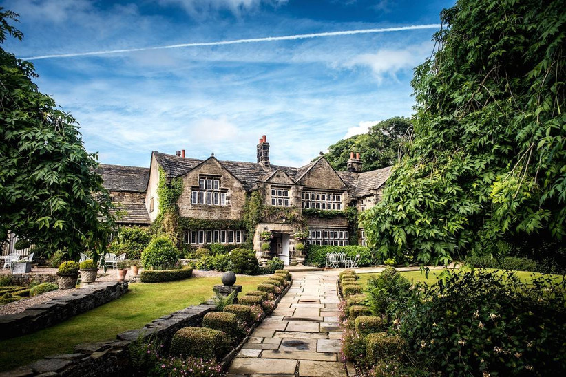 Outside view of a country hotel wedding venue
