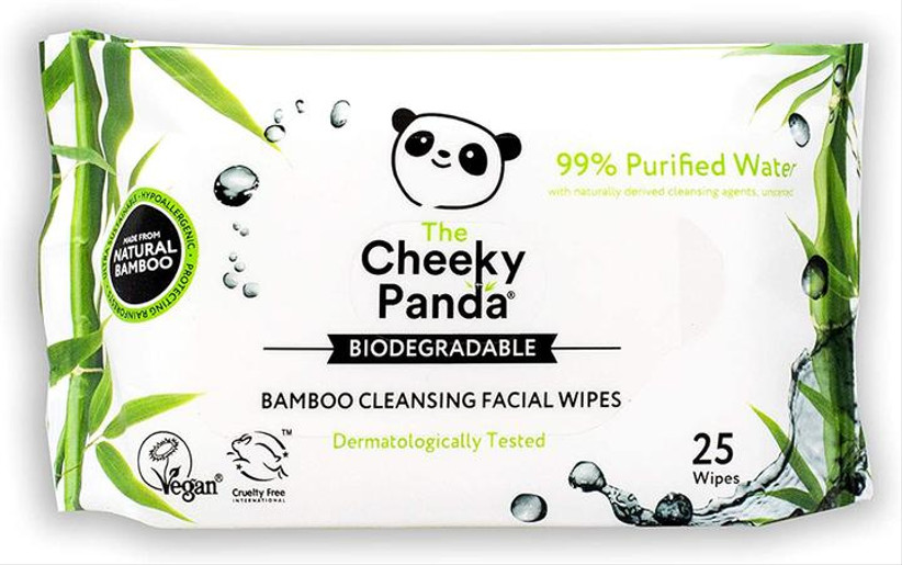 Biodegradable face wipes