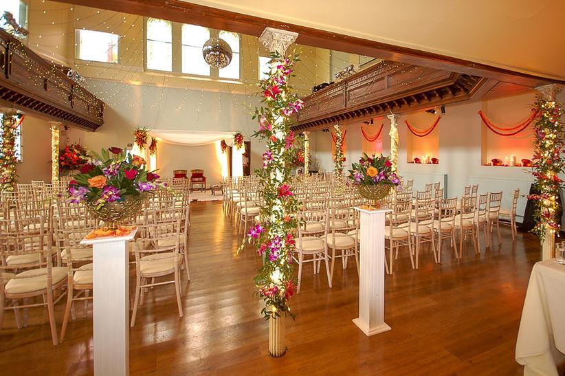 Floral ceremony at a London wedding venue