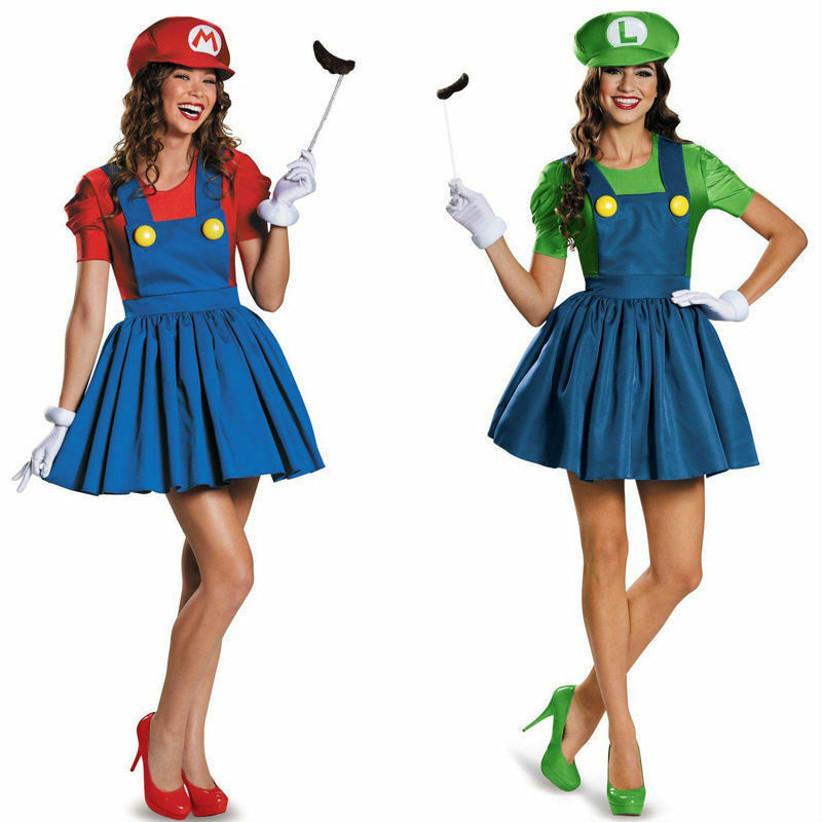 Couples Halloween Costume Mario and Luigi
