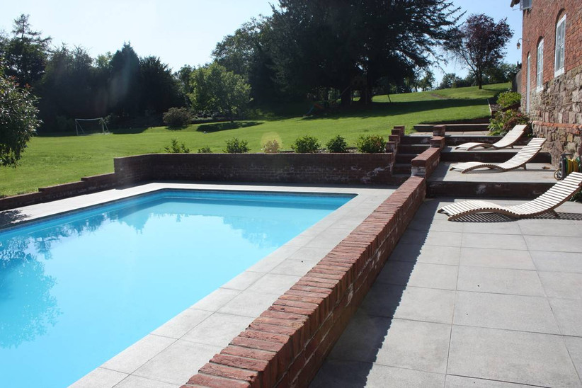 Outside swimming pool area