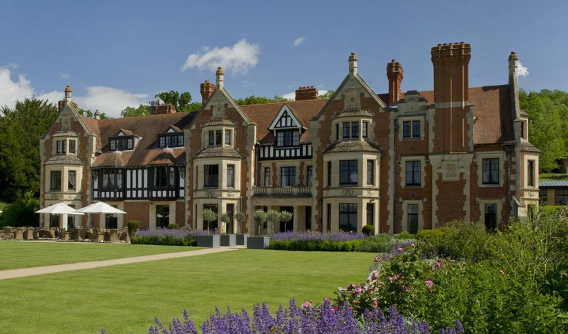 Outside view of a manor house wedding venue