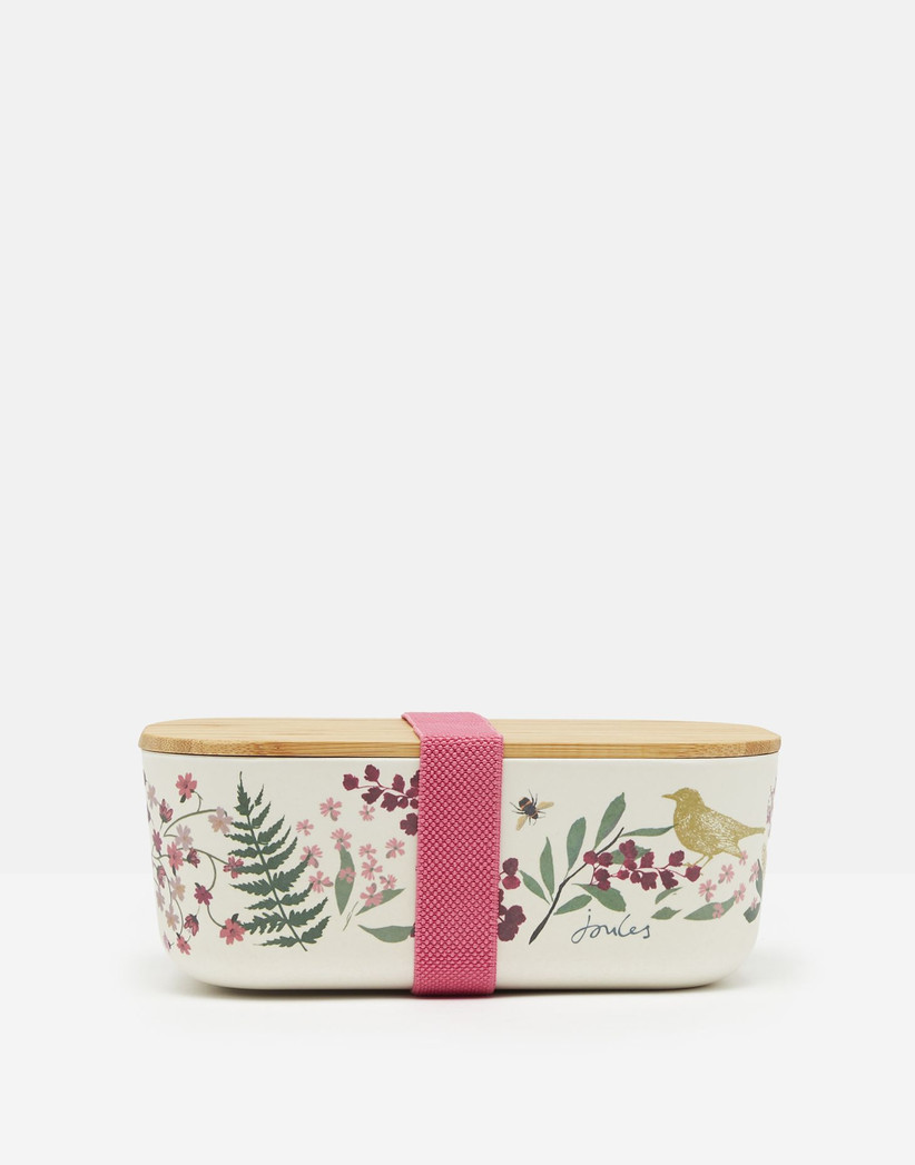 Floral bamboo lunch box
