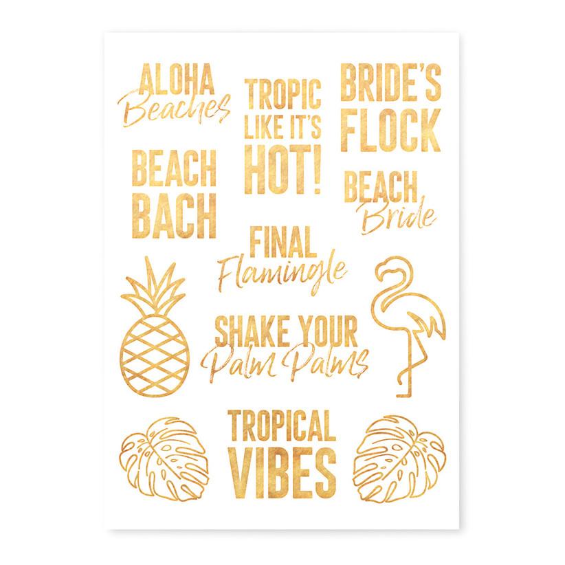 Beach themed temporary tattoos for a hen do