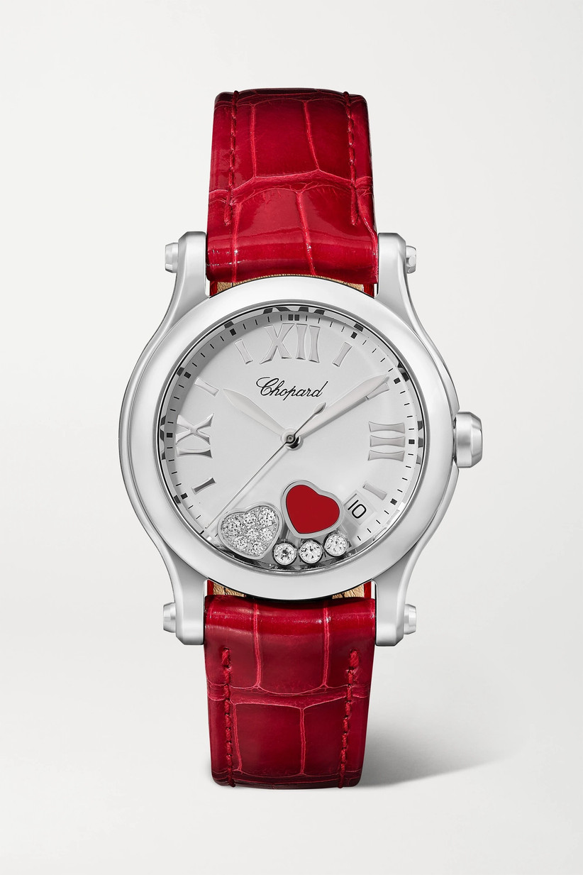 Red heart engagement watch