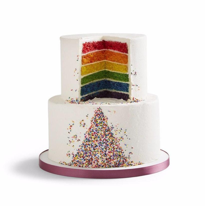 Rainbow sprinkle wedding cake